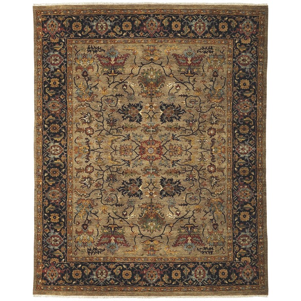 Bethany Camel Traditional Hand-knotted Rug - 10' x 14'