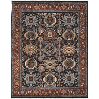 Bethany Navy Traditional Hand-knotted Rug (10' x 14')