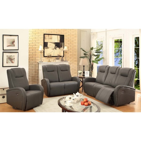 Shop Easy Living Swiss 3 Piece Power Reclining Living Room Set With Usb Free Shipping Today