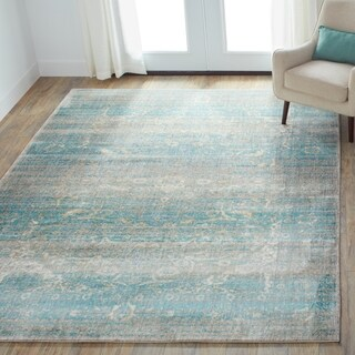 Contessa Light Blue/ Mist Rug (12'0 x 15'0)