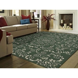 Helena Green Modern Design Hand-tufted Rug (5' x 7'6)