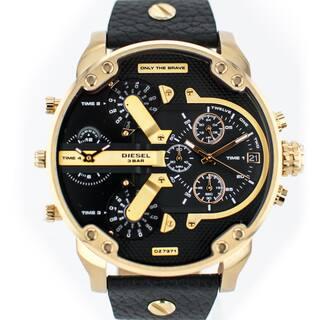 Diesel Men's DZ7371 Mr Daddy Dual Zone Chornograph Black Dial Black Leather Watch|https://ak1.ostkcdn.com/images/products/11324190/P18300848.jpg?impolicy=medium