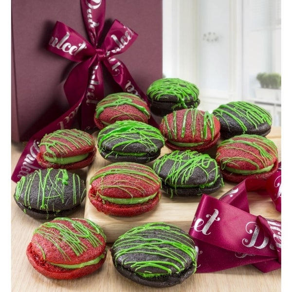 Dulcet Gifts St. Patrick's Red Velvet Mini Whoopee Pie Gift Box