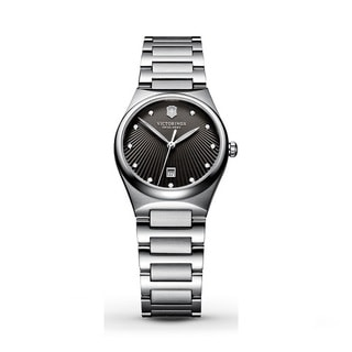 Victorinox Swiss Army 241512 Victoria Women's Charcoal Dial Stainless Steel Watch