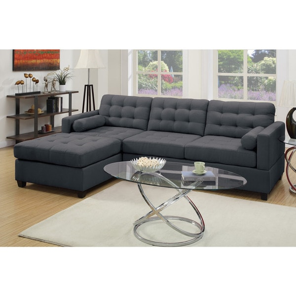 carrara 2piece sectional sofa upholstered in polyfiber