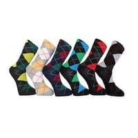 Men's Frenchic Premium Fashion Printed Argyle Dress Socks (12 Pairs)