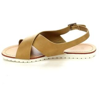 Wild Diva SAM-14 Women's Criss Cross Flat Sandals