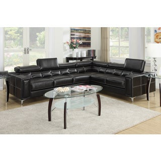 Varese 2-piece Sectional Sofa Upholstered in Bonded Leather