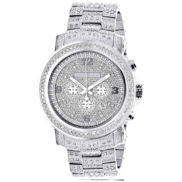 a161a969dfc2 Shop Luxurman Men s 3 1 2ct TDW Diamond 2830 Escalade Fully Iced Out ...