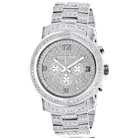 Luxurman Men's 3 1/2ct TDW Diamond 2830 Escalade Fully Iced Out Large Watch