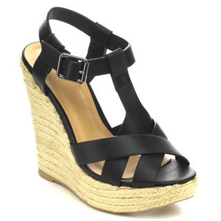Wild Diva MADISON-174 Women Espadrille Wedge Sandals