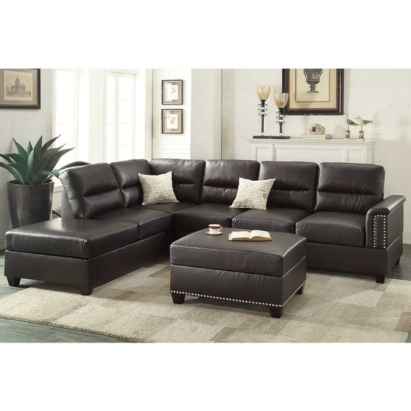 Shop Marsala 3 Piece Sectional With Ottoman Upholstered In