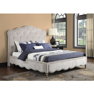 Starry Night Upholstered Bed with Crystal Trim
