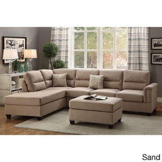Marsala 3-piece Sectional with Ottoman Upholstered in Poly Fiber