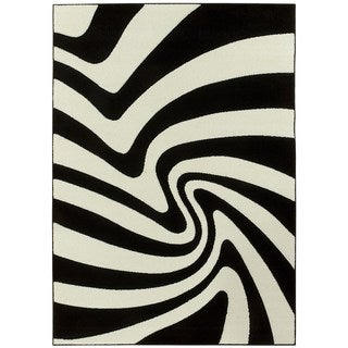 LYKE Home Contemporary Zebra Area Rug (5' x 7')