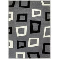 LYKE Home Contemporary Grey Area Rug - 5' x 7'