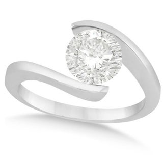 14k Gold 1 1/4ct Tension Set Solitaire Diamond Engagement Ring