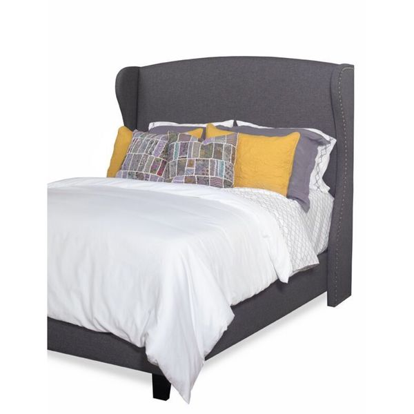 Shop Progressive Whitney Upholstered Winged Headboard Or