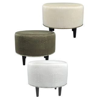 MJL Furniture Sophia Tillie Round Upholstered Ottoman