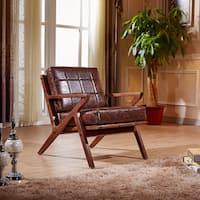 Elegant Signature Designs Solid Wood Accent Club Arm Chair