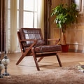 Elegant Signature Designs Solid Wood Accent Club Arm Chair