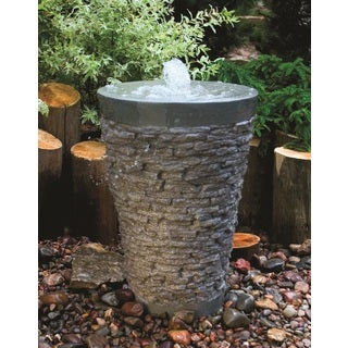 Aquascape Large Stacked Slate Fountain Kit with Pump