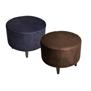 MJL Furniture Sophia Obsession Round Upholstered Ottoman
