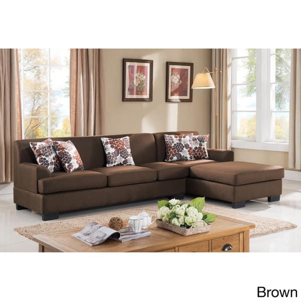 Fabulous Shop Allen Modern Fabric Reversible Sectional Sofa Set Andrewgaddart Wooden Chair Designs For Living Room Andrewgaddartcom