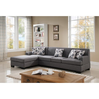 Allen Modern Fabric Reversible Sectional Sofa Set