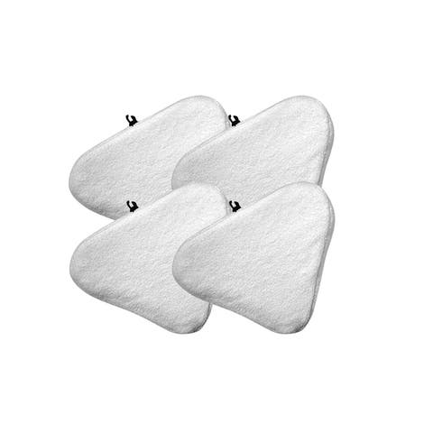 4pk Replacement Microfiber Steam Mop Pads, Fits H20 Ti & Steamboy Mops, Compatible with Part T1MICROPAD