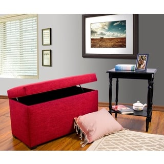 MJL Furniture Angela 8 Button Tufted Key Largo Storage Trunk Bench