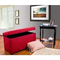 MJL Furniture Angela 8 Button Tufted Key Largo Storage Trunk Bench
