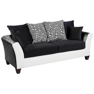 Riverstone Implosion Black Velvet Sofa