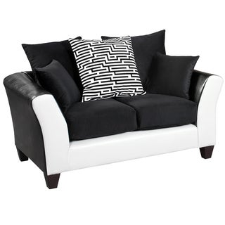 Riverstone Implosion Black Velvet Loveseat