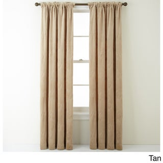 Nanshing Velvet 54 x 84-inch Embroidered Single Curtain Panel