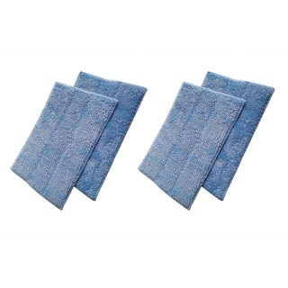 4 Euroflex Micro Fiber Cleaner Pads Fits Euroflex Monster EZ1 Steam Mop