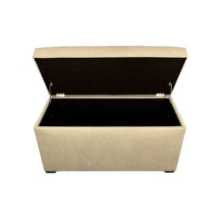 MJL Furniture Angela 8 Button Tufted Dawson7 Storage Trunk Bench