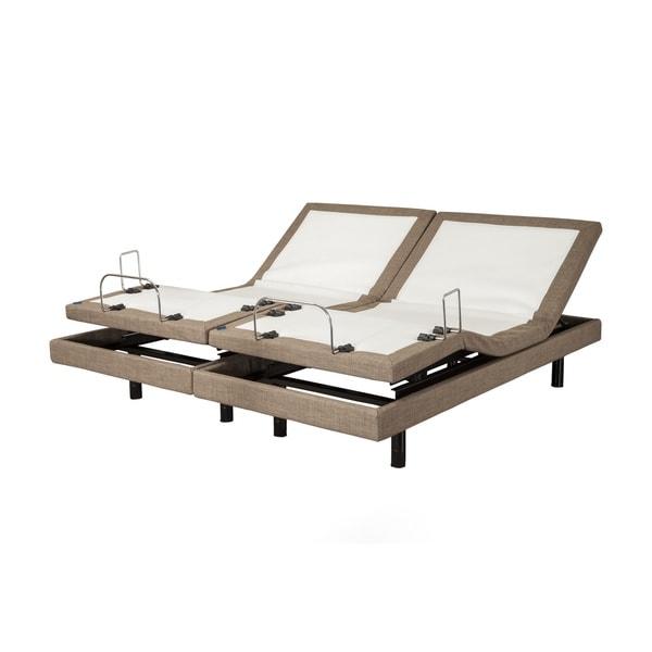 Adjustable Beds Reviews >> Shop Blissful Nights M3000 Split King Adjustable Base - Free Shipping Today - Overstock.com ...