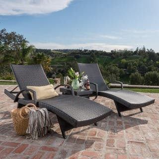 Havenside Home Vilano 3 Piece Outdoor Lounge Set
