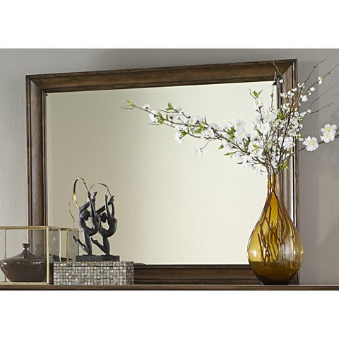 Amelia Antique Toffee Mirror - Brown