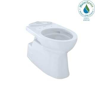 Toto Vespin II Universal Height Elongated Skirted Toilet Bowl with CeFiONtect CT474CUFG#01 Cotton White