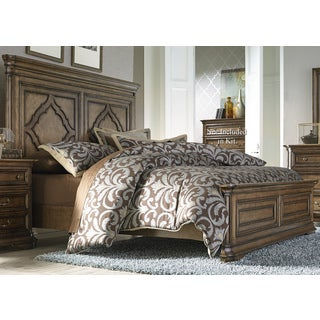 Amelia Antique Toffee Panel Bed