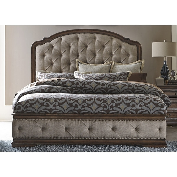 Amelia Antique Toffee Upholstered Bed