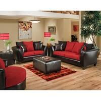 Riverstone Microfiber Living Room Set