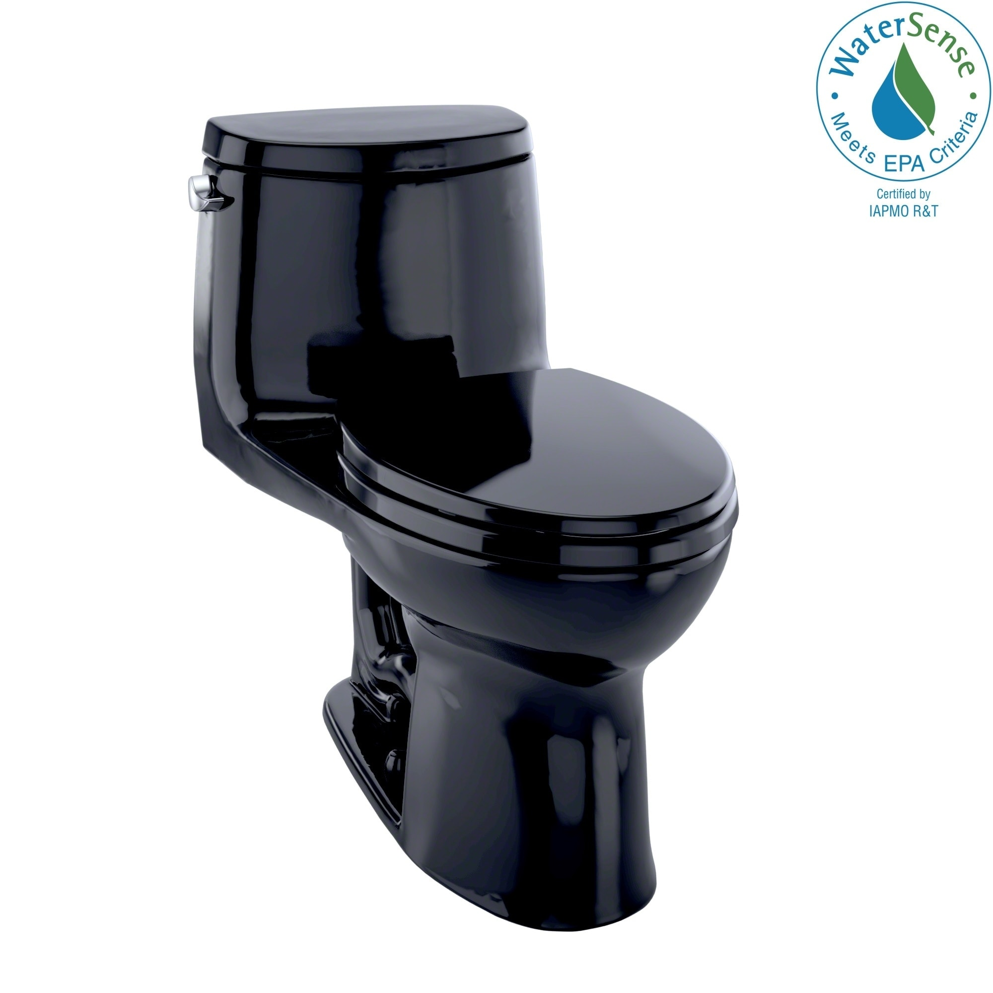 Toto Ultramax II One-piece Toilet Ebony (Ebony), Grey metal