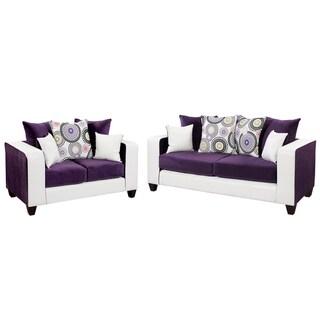 Riverstone Velvet Living Room Set