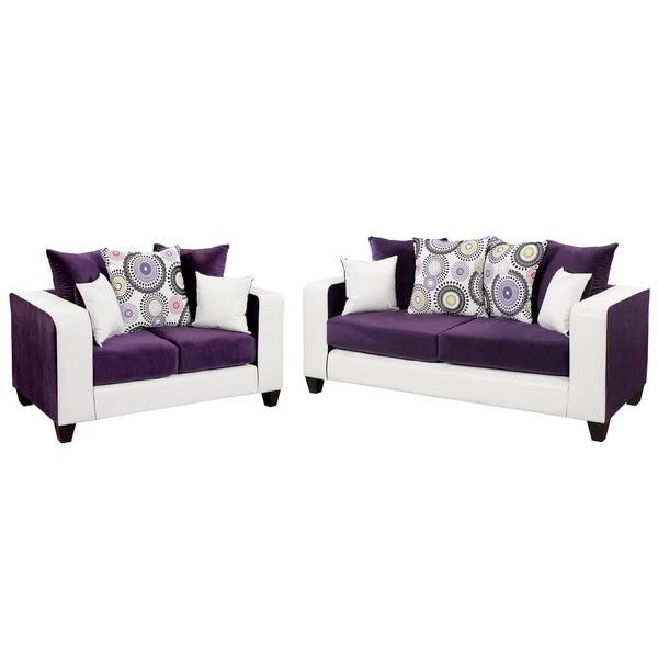 Overstock Living Room Sets: Riverstone Velvet Living Room Set