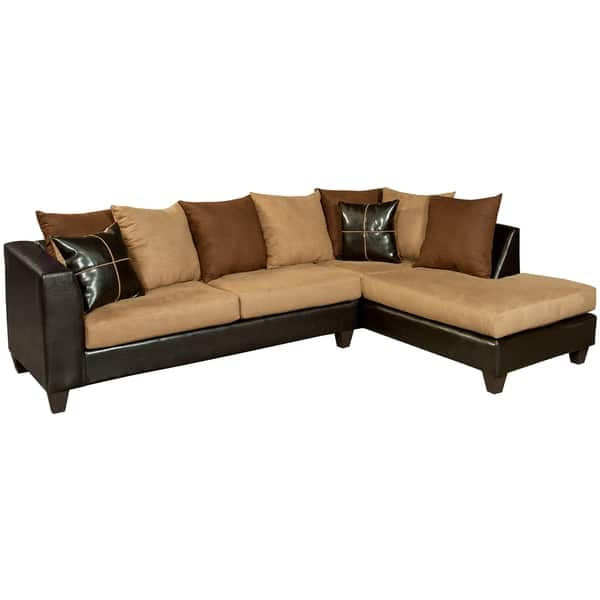 Stupendous Riverstone Microfiber Sectional 111W X 34 71D X 37H Pdpeps Interior Chair Design Pdpepsorg