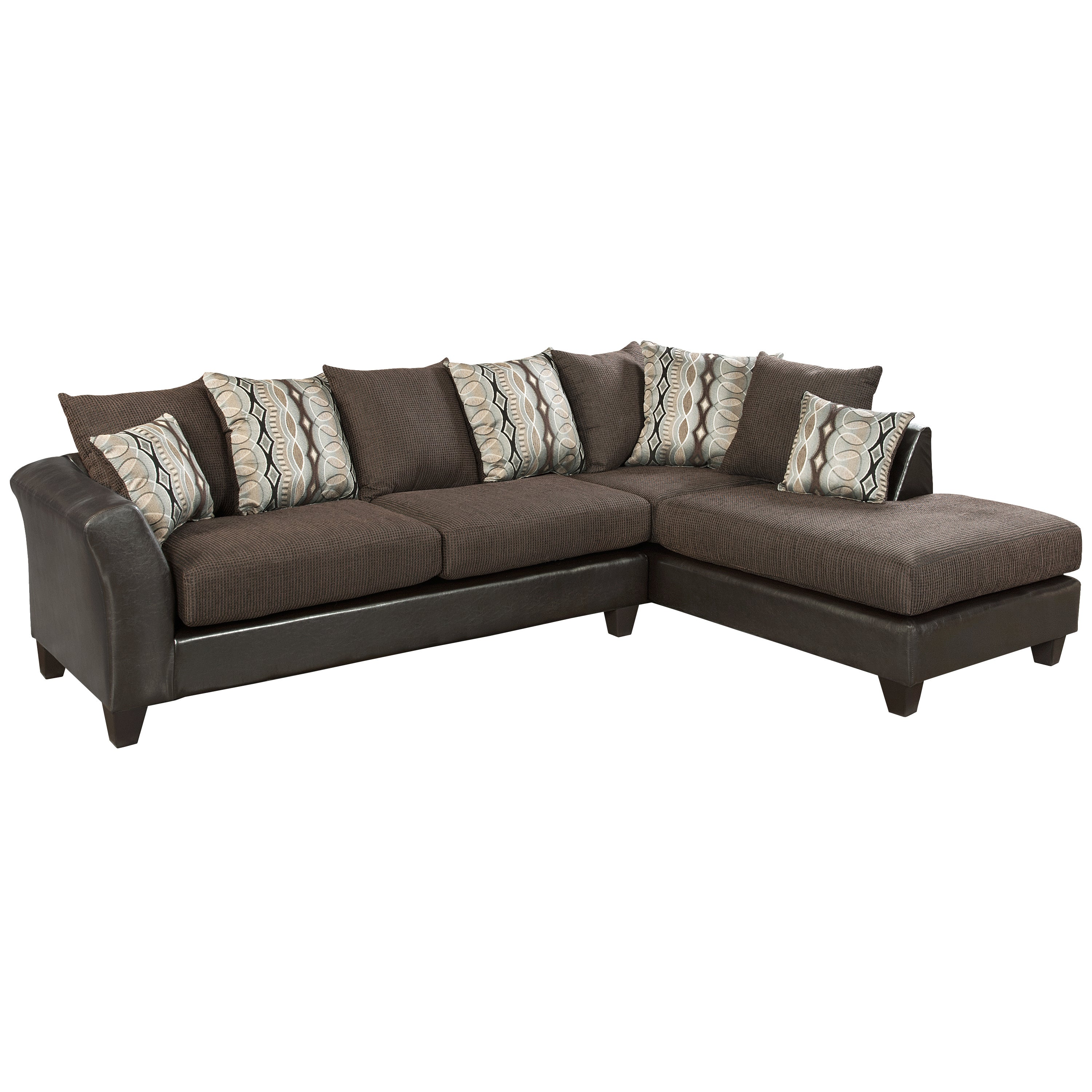 FLASH Furniture Riverstone Rip Sable Chenille Sectional (...