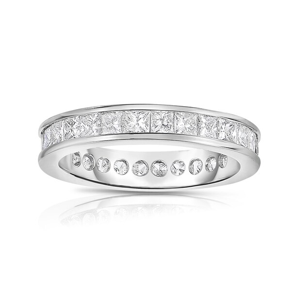 Eloquence, 18k White Gold 1 3/4ct TW Channel Set Princesscut Eternity Band